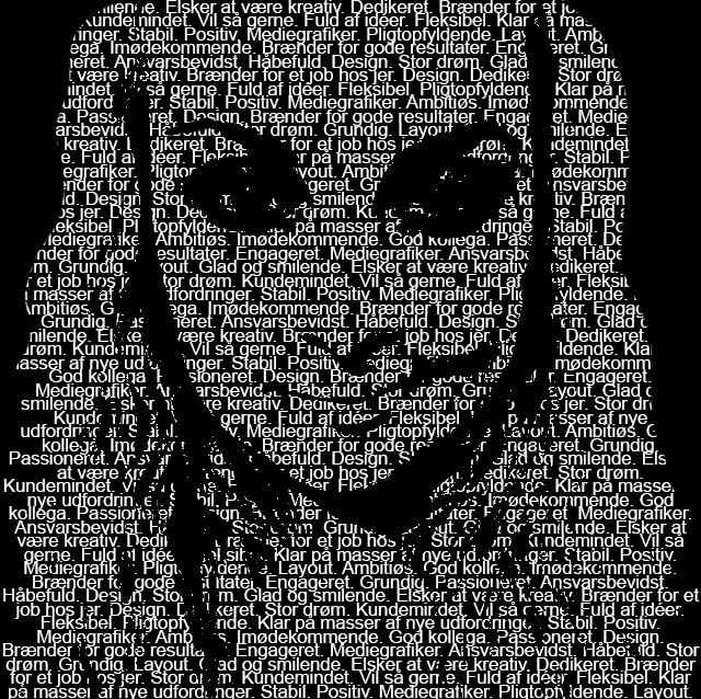 SN-mediegrafiker text over face