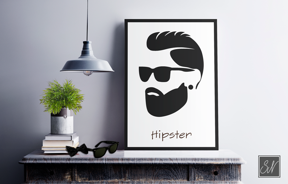 Hipster Plakat SN mediegrafiker