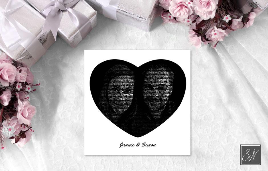 Bryllupskort SN mediegrafiker